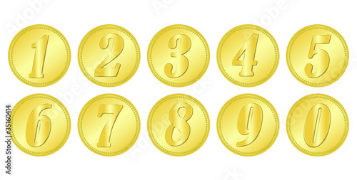 coin, gold, number, rangking