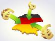 Geben Euro in Deutschland