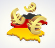 Bewegung der Euro in Deutschland