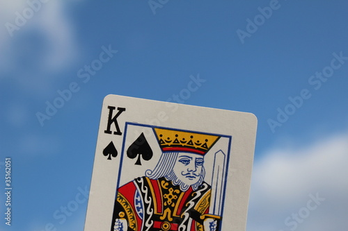 The king card outdoor with sky background