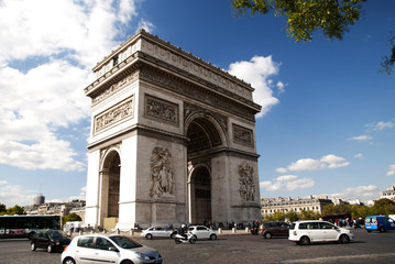 View of the Arc de Triomph