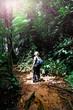 woman in borneo jungle