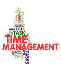 Time management in word tag cloud