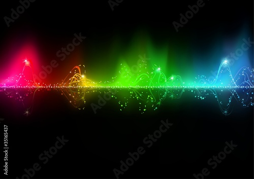 Abstract music wave - background illustration