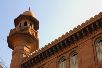 Minaret of Bohra Mosque in Karachi, Pakistan