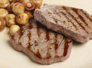 Rump Steaks with Mushrooms