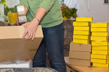 Shopping Paket Versand und Retoure