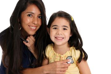 Female Nurse With Patient
