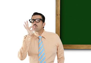 genius nerd copyspace board green blank blackboard