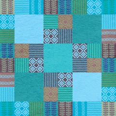 Fabric seamless pattern patchwork style