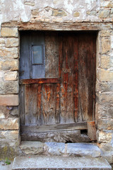 aged wood doors weathered vintage