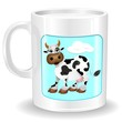 Tazza di Latte e Mucca-Mug of Milk with Cow-Vector
