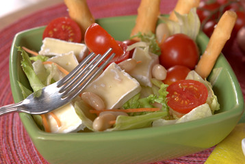 salad with cannellini beans and brie