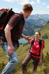 Aufstiegshilfe in den Alpen
