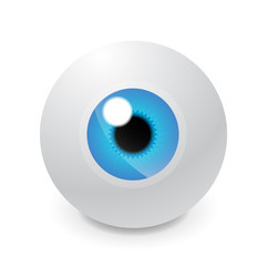 Glass eyeball