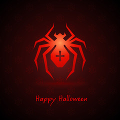 spider for halloween on background