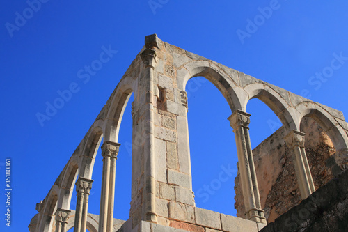 Arches structure of ancient Monastery in Spain