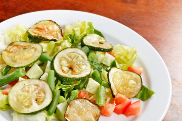 salad with zucchini