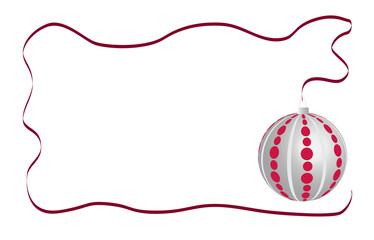 Christmas ball card white