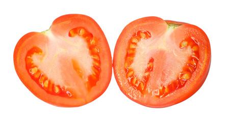 Tomato cut in heart shape