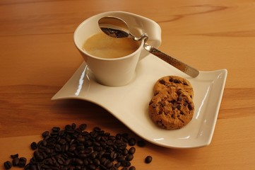 hot coffee and cookies