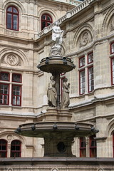 Vienna Opera House fountain