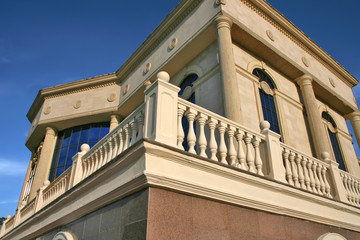 building and balustrade