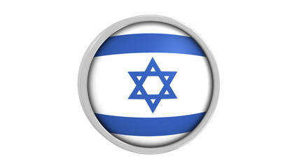 Israeli flag with circular frame