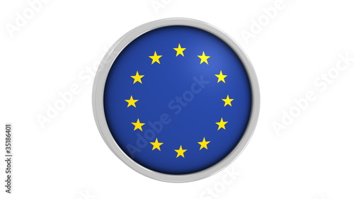European Union flag with circular frame