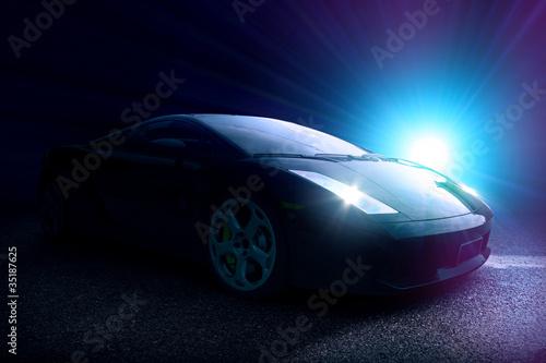 Fast cars Black Sportscar