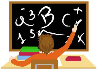 Studente alza la mano