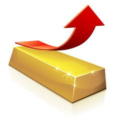 Hausse du prix de l'or (reflet)