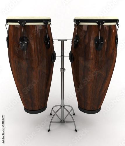 Leinwanddruck Bild Conga drums