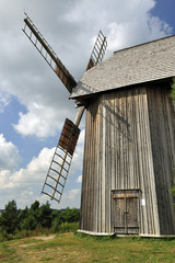 architecture,17th, 20th, country, heritage, poland, windmil
