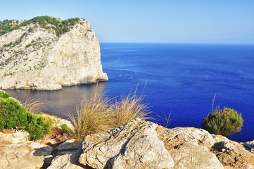 beautiful view of cape formentor on mallorca