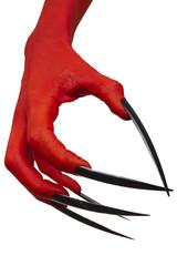 The devil's long nails.