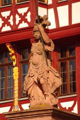 Statue of Minerva at Römer in Frankfurt