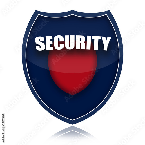 Security shield isolated over white background