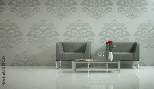 Wohndesign - graue Sessel