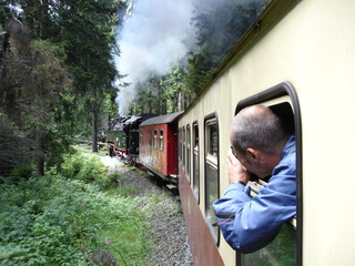 Beautiful Historic European Train RIde Through Forest