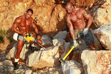 duo, casse de pierre