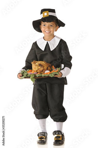 Happy Thanksgiving Pilgrim Boy