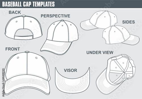 Snapback Hat Template Vector Fashion design templates , vector ...