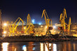 night view of the industrial port
