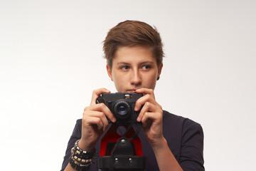 Junges Mädchen mit Kamera