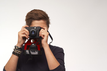 Tourist mit Kamera