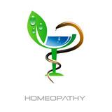 Logo homeopathy, alternative medicine # Vector poster