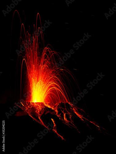 Leinwandbild Motiv spectacular volcano eruption