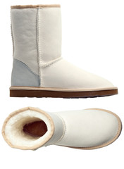 White uggs, side and top views
