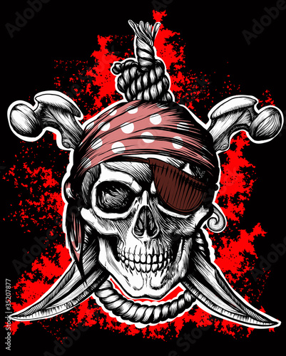 Jolly Roger, a pirate symbol with crossed daggers